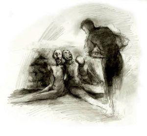 Jonathan Strange speaks to the dead.