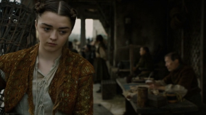 Arya overhears the thin man.