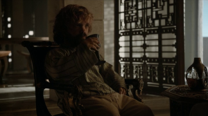 Tyrion's posture is atrocious.
