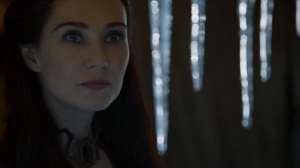 Melisandre sees the melting ice as proof of Rh'llor's favor.
