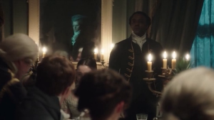 Stephen Black at Lady Pole's dinner party.