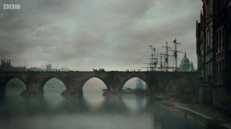 One thing this show does nicely is create gorgeous, atmospheric scenery, even if it does feel a little out of place. I loved this shot, but it doesn't really fit the tone of what follows.