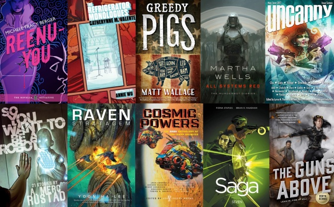 The SF Bluestocking Spring 2017 Reading List Wrap-Up